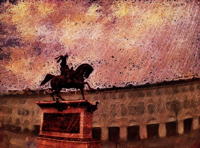 The bronze rider