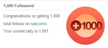 1000 blog followers