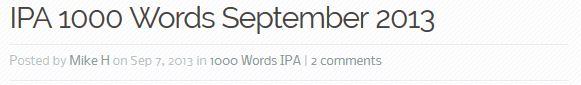 IPA 1000 words header