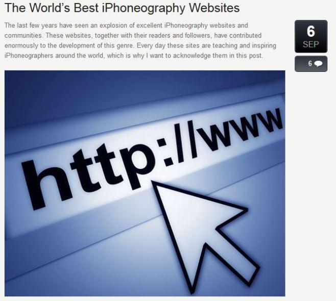 iphone photography school Best iphone websites