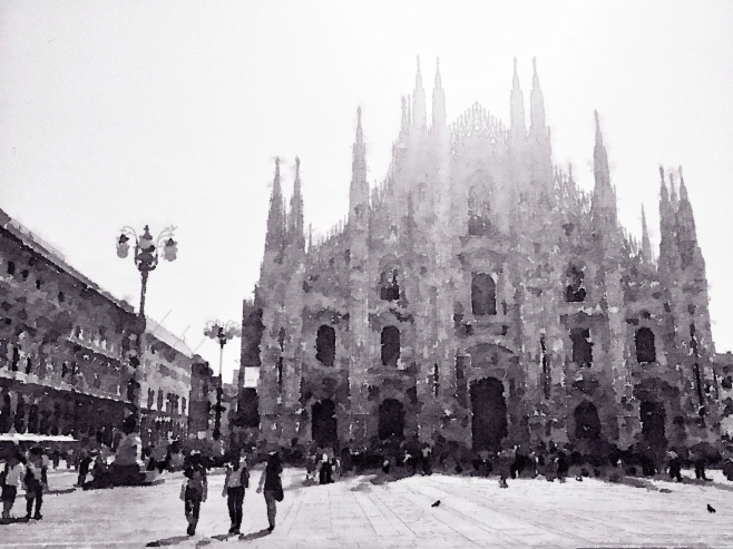 I've seen the light in piazza Duomo